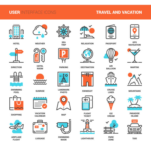 Travel and Vacation vector art illustration