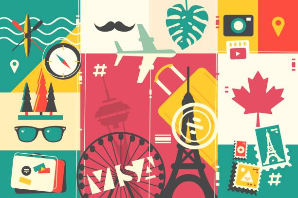 Travel And Vacations Vector Art Illustration