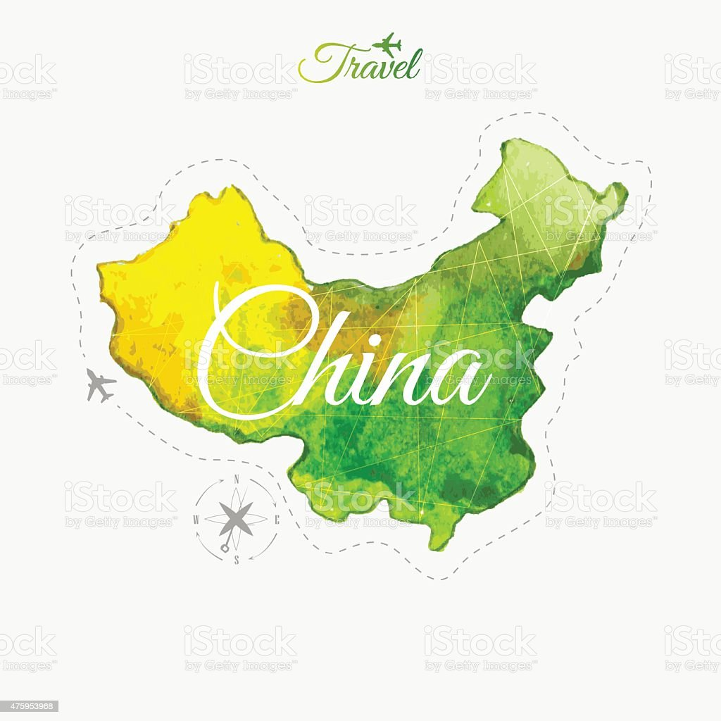 Travel around the world china watercolor map stock vector art more travel around the world china watercolor map royalty free travel around the world gumiabroncs Image collections