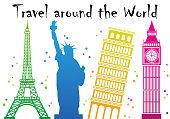 Travel around the world concept design
