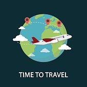 Travel Around The World Illustration. Travel and Tourism