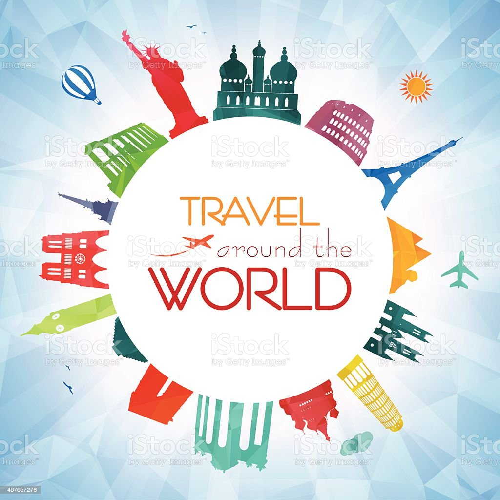 Travel around the world stock vector art more images of for All around the world cruise
