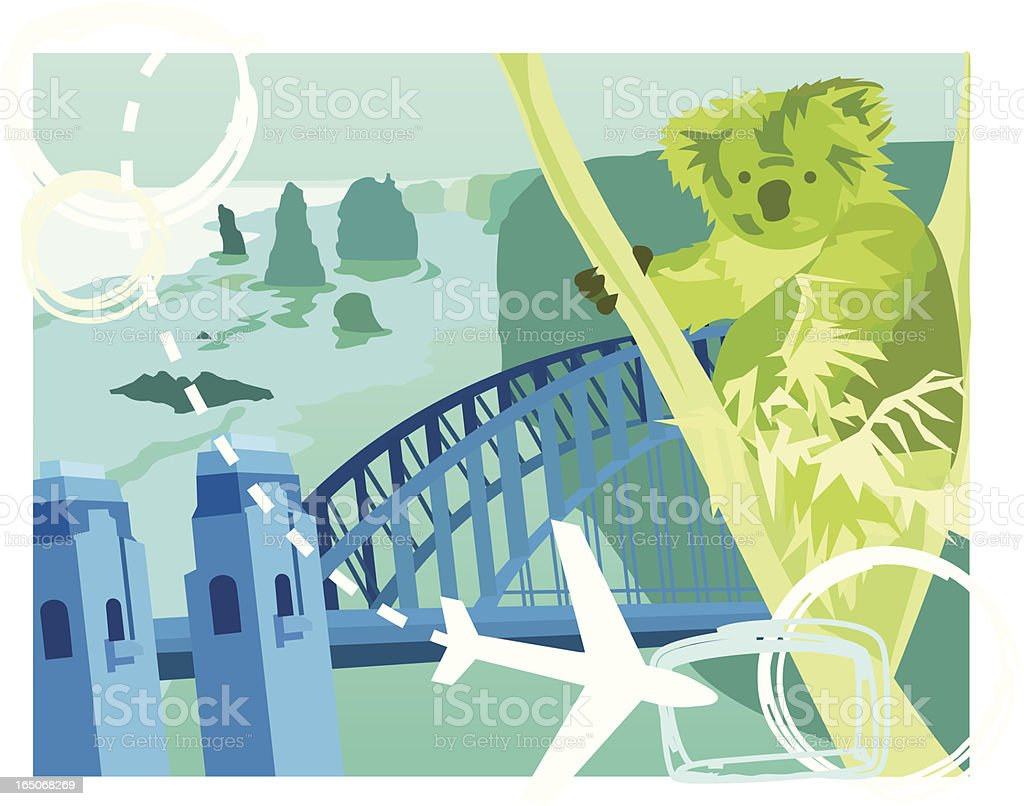 Travel: Australia vector art illustration