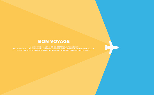 Travel background template poster flat design
