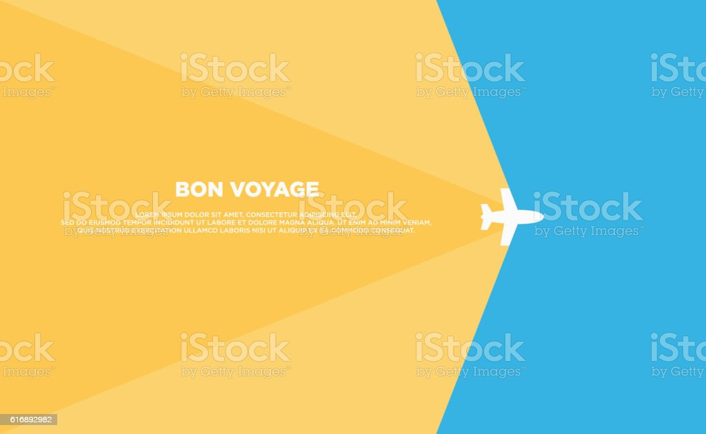 Travel background template poster flat design - ilustración de arte vectorial