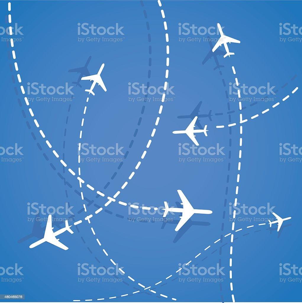 Travel background. vector art illustration