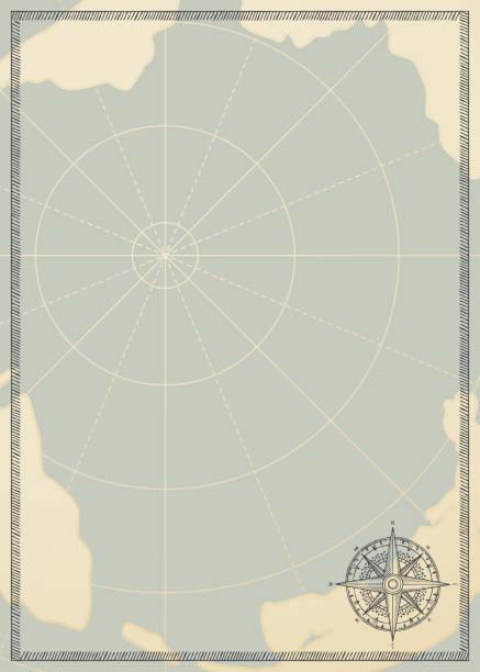 ilustraciones, imágenes clip art, dibujos animados e iconos de stock de fondo con una rosa de los vientos y el viejo mapa de viaje - mapas vintage