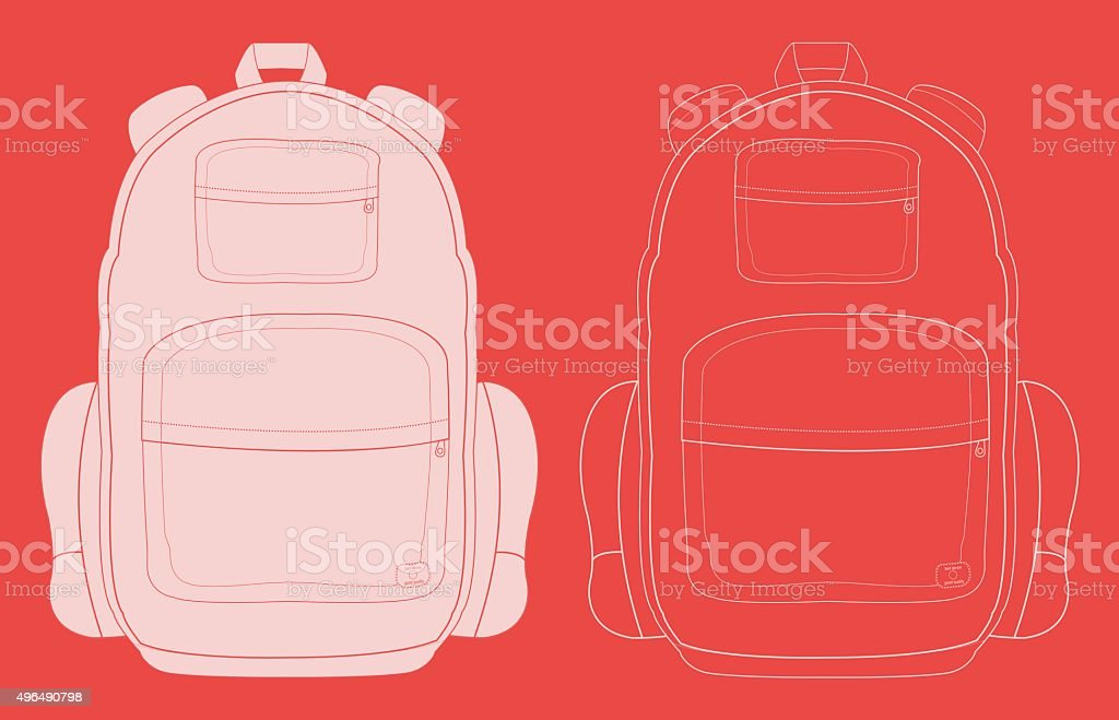 Travel backpack chalk​​vectorkunst illustratie