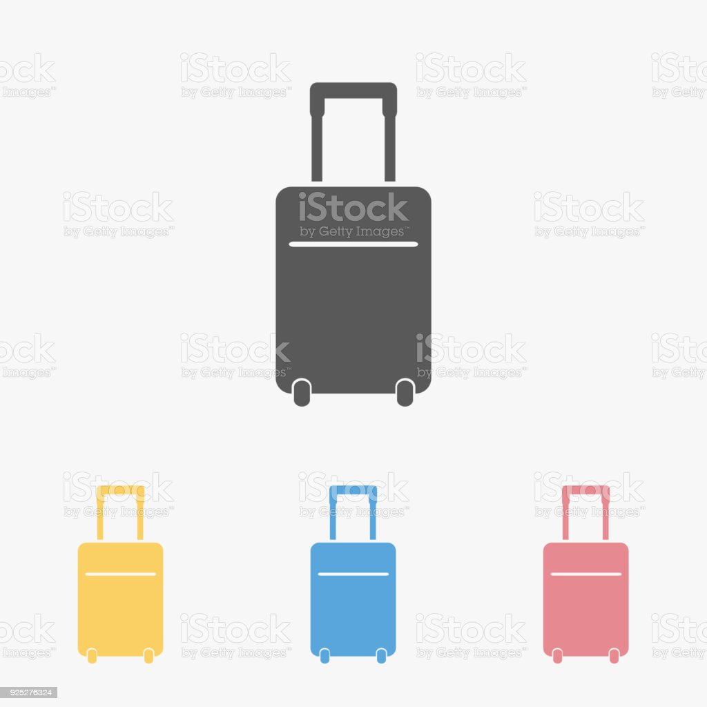 travel bag icon vector art illustration