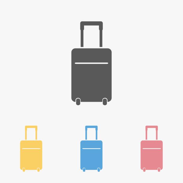 travel bag icon - luggage stock illustrations