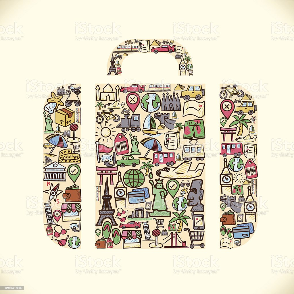 Travel Bag royalty-free stock vector art