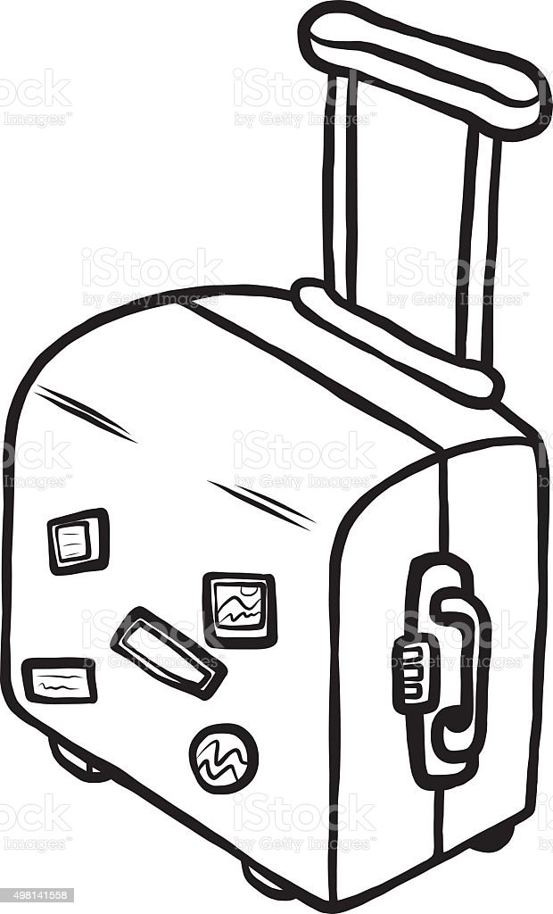Travel Bag Stock Vector Art & More Images of 2015 - iStock