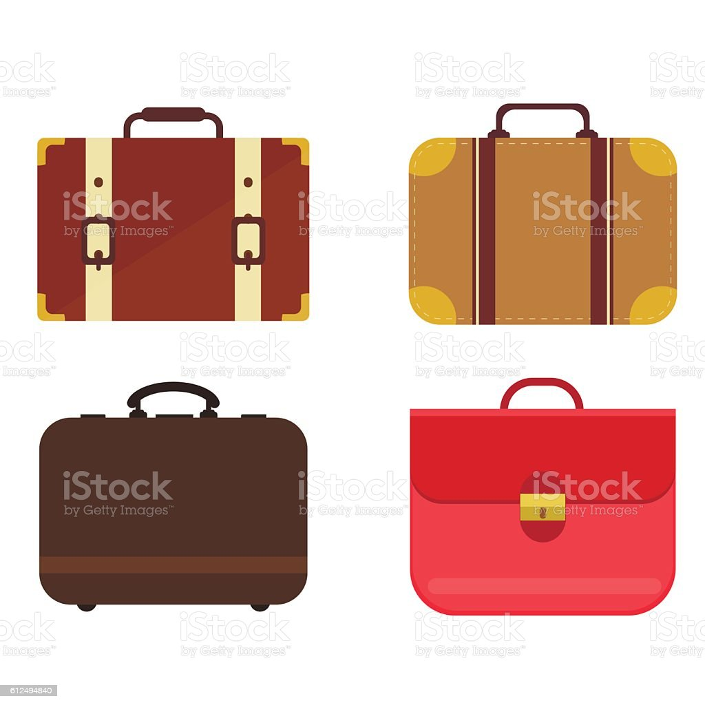 Travel bag vector set. vector art illustration