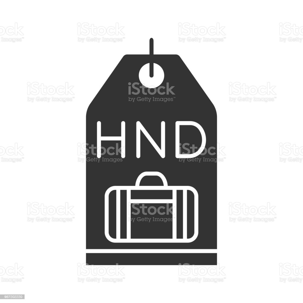 Travel Baggage Tag Icon Stock Vector Art More Images Of Airport Luggage Black Royalty Free Amp