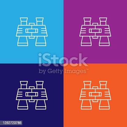 Travel binoculars outline icon. Elements of travel illustration icon. Signs and symbols can be used for web, logo, mobile app, UI, UX on multicolored background