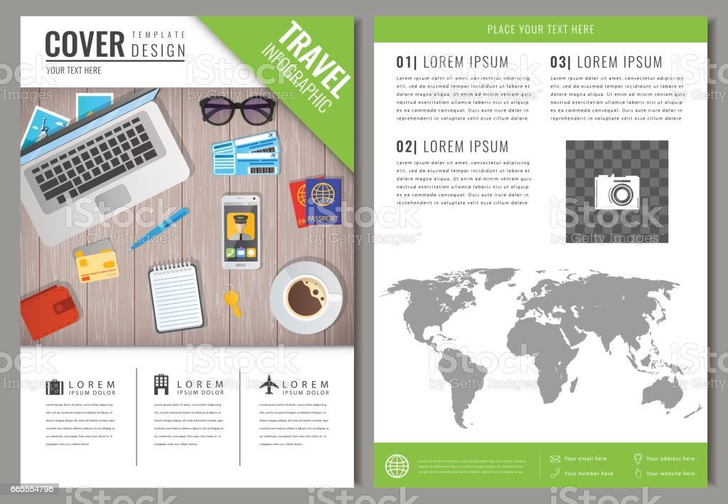 Travel Brochure Design Template For Travel And Tourism