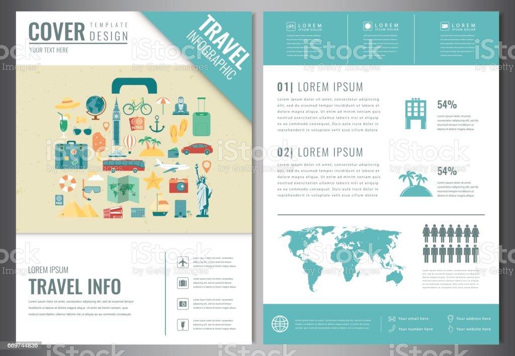 Broschüre Design Zu Reisen Vorlage Für Reise Und Tourismuskonzept ...