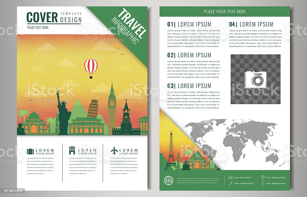 Travel brochure design with famous landmarks and world map arte travel brochure design with famous landmarks and world map travel brochure design with famous landmarks gumiabroncs Images