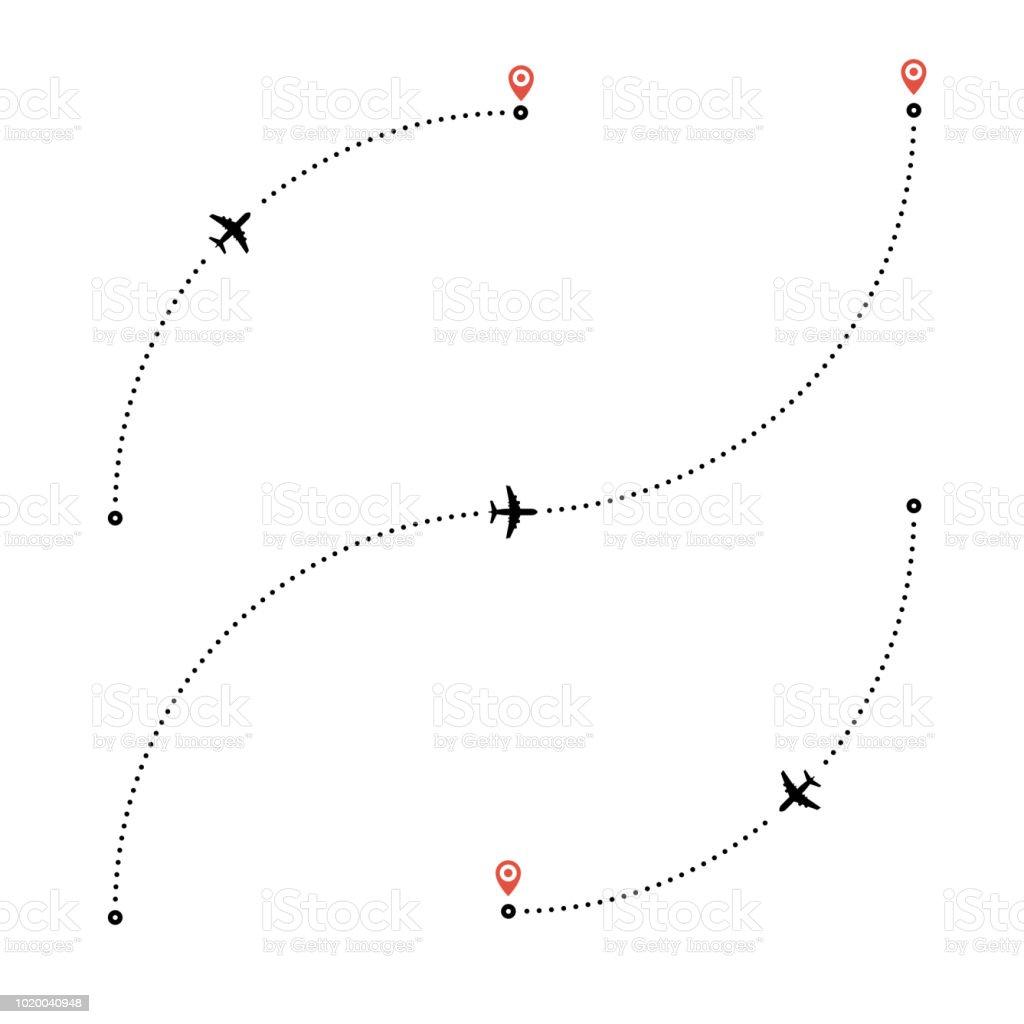 Travel by plane concept. travel by plane concept - immagini vettoriali stock e altre immagini di aereo di linea royalty-free