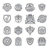 Travel, nature, emblem, hipster logo,  icon set
