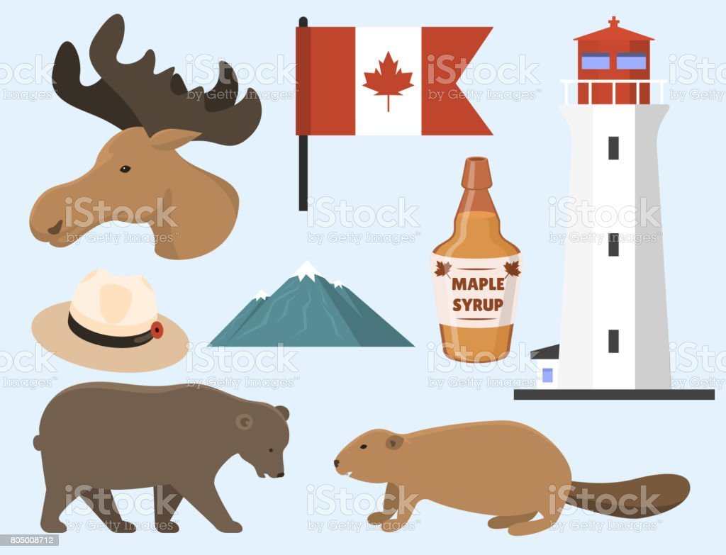 Travel Canada Traditional Objects Country Tourism Design National