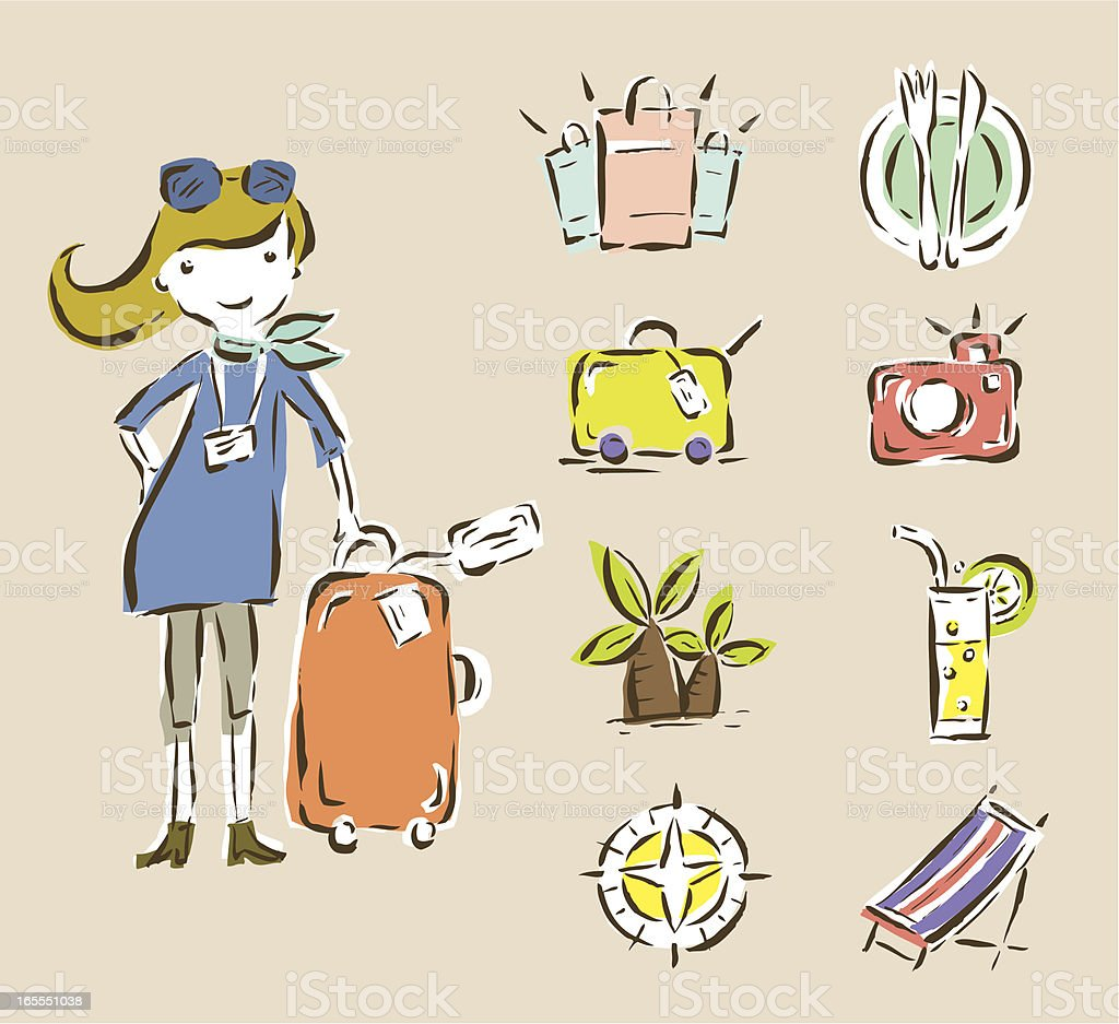 Travel Collection royalty-free stock vector art