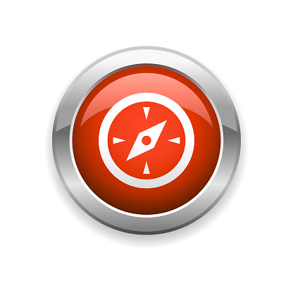 Travel Compass Glossy Icon