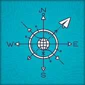 istock Travel Compass Rose 482193614