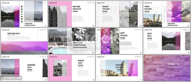 Travel concept presentations design, portfolio vector templates with graphic elements on white. Multipurpose template for presentation slide, flyer leaflet, brochure cover, report, advertising