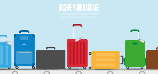 travel concept. vector. baggage icon - luggage stock illustrations