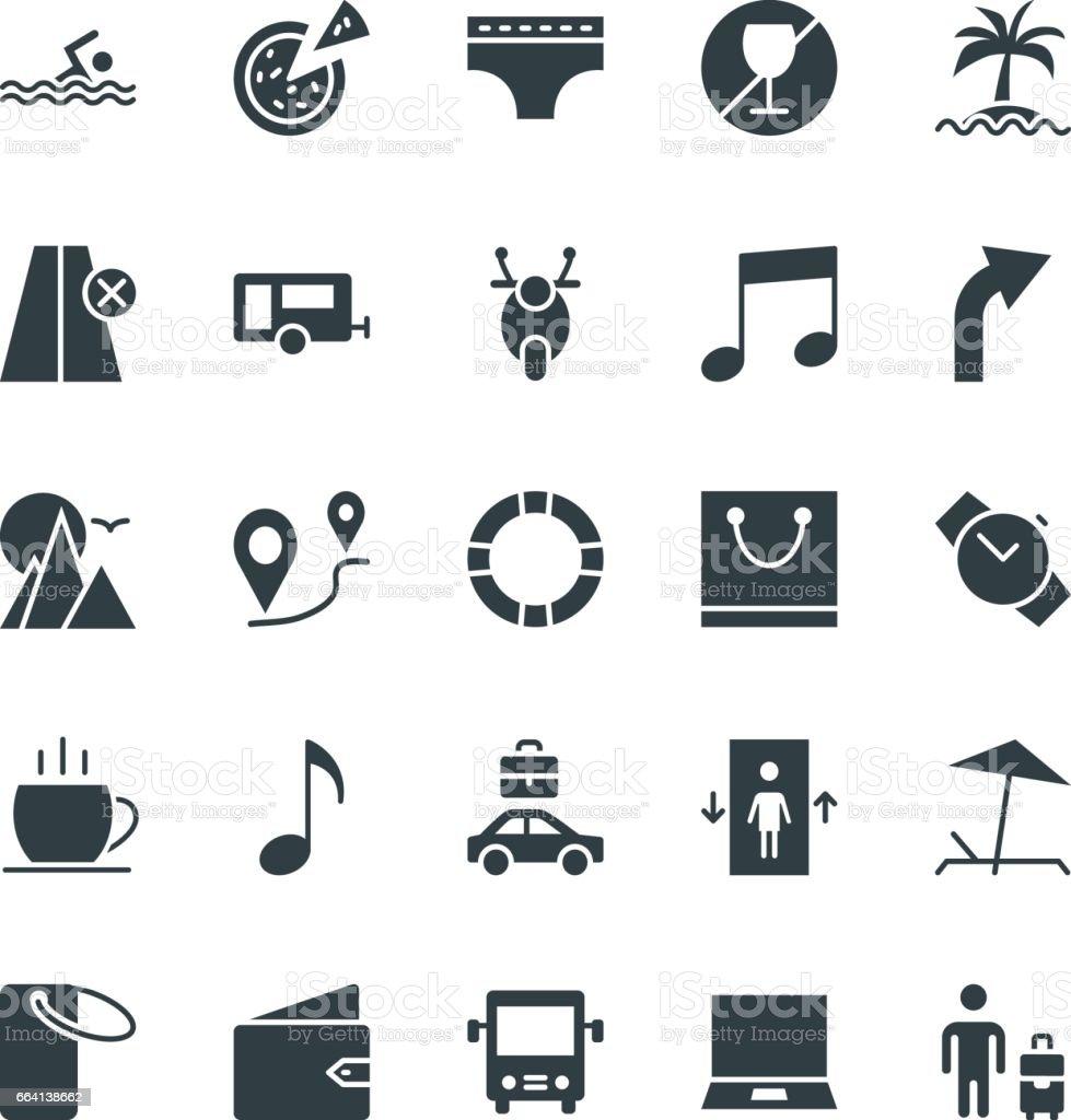 Travel Cool Vector Icons 2 travel cool vector icons 2 - immagini vettoriali stock e altre immagini di abbronzarsi royalty-free