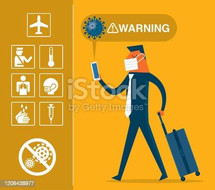 Travel - coronavirus - Businessman
