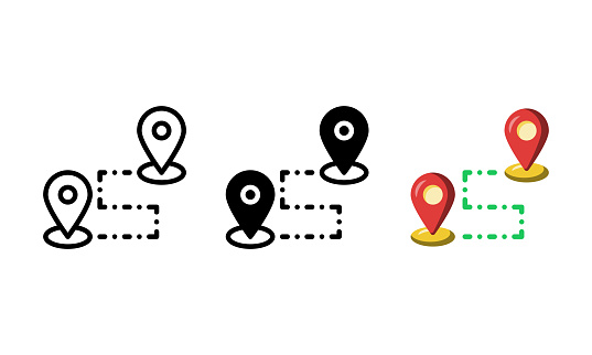 Destination icon. with outline, glyph, and flat style. best usage as user interface, infographic element, app icon, web icon, etc.