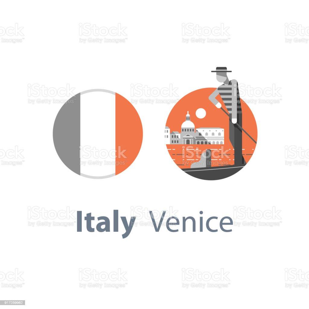 Ilustración de Destino De Viaje Italia Símbolo De Venecia ... 74a49556b49
