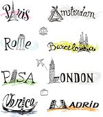 travel destinations international cities names and landmarks