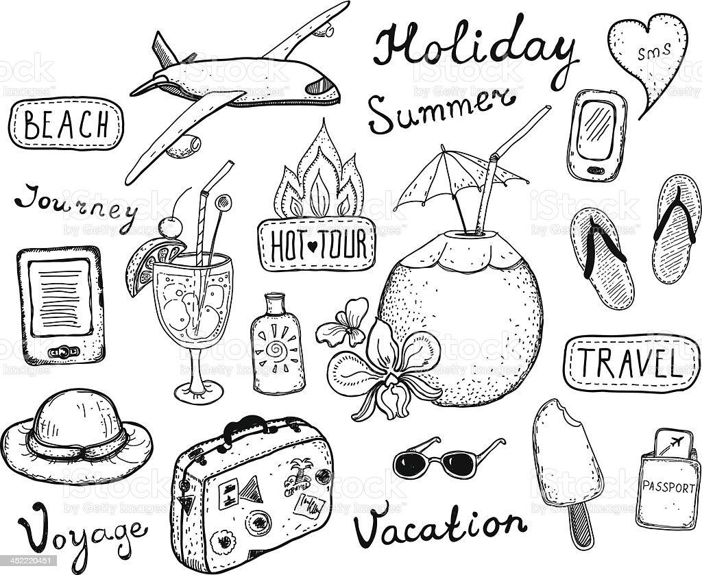 Travel doodle elements set royalty-free travel doodle elements set stock  vector art  amp  19ac3af555