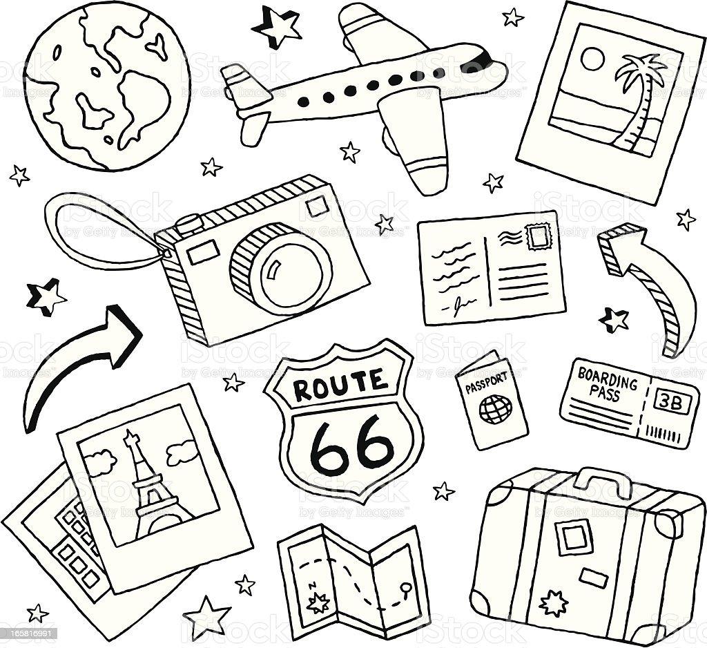 Travel Doodles Stock Vector Art 165816991