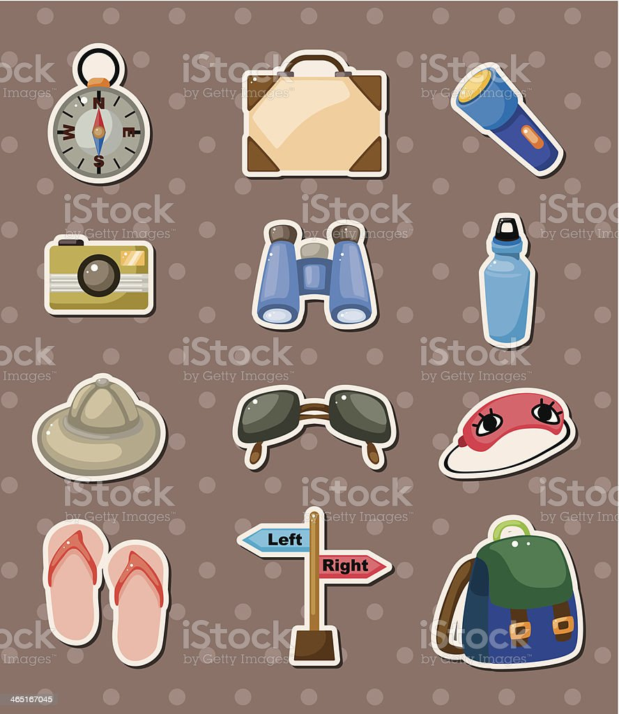 travel element stickers royalty-free stock vector art