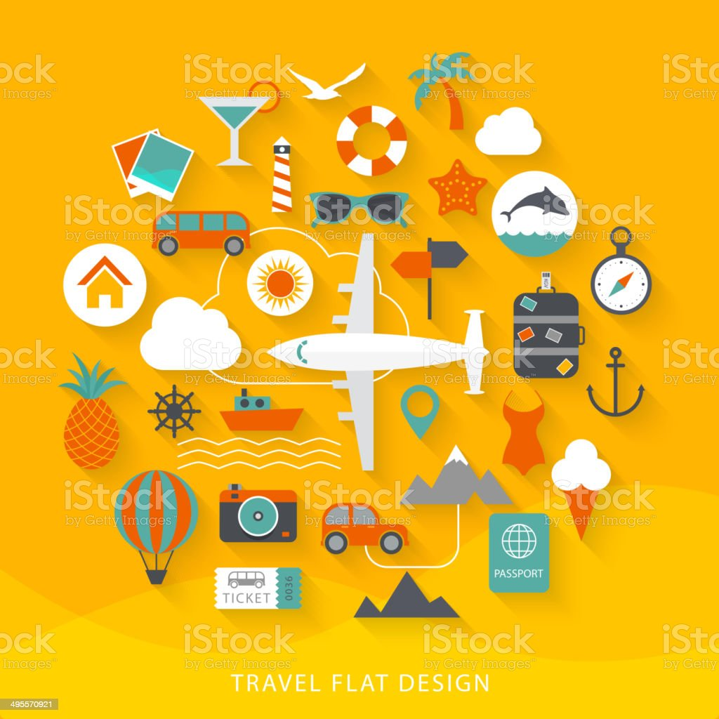 Travel flat design illustration vector art illustration