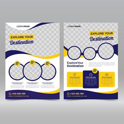 Travel flyer design template