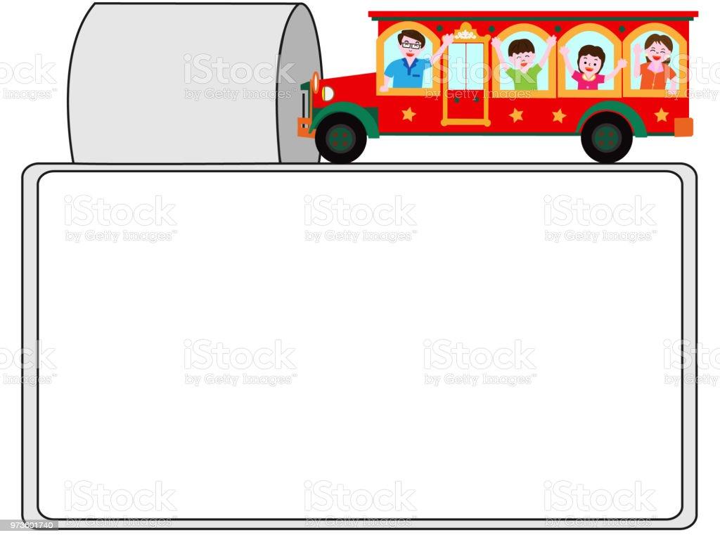 travel frame vector art illustration