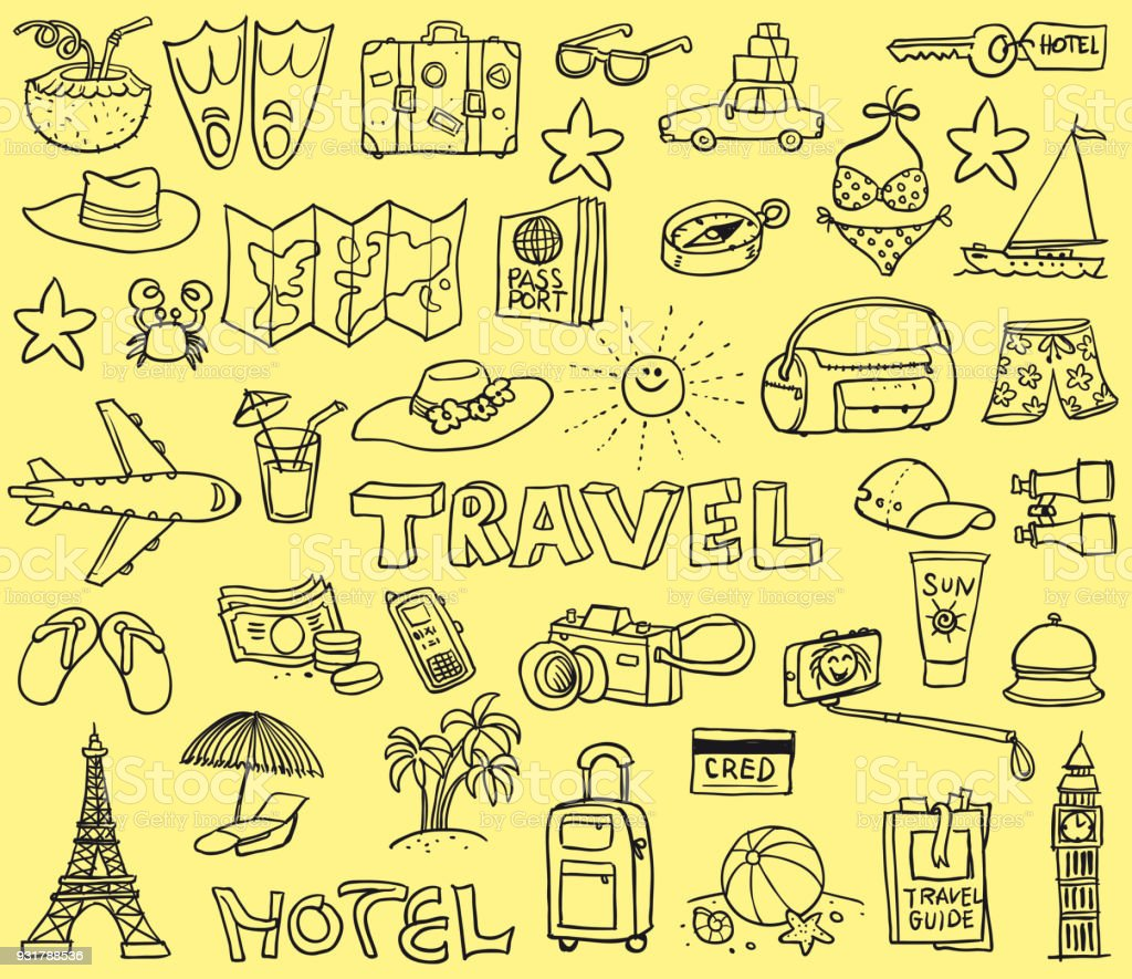 Travel Funny Doodles