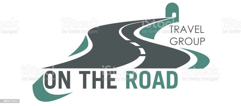 Icono de carretera de vector de viaje Grupo carretera turismo - ilustración de arte vectorial