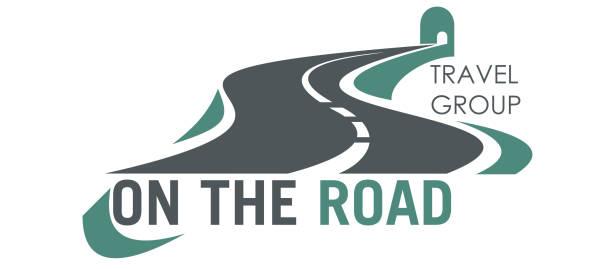 ilustraciones, imágenes clip art, dibujos animados e iconos de stock de icono de carretera de vector de viaje grupo carretera turismo - señalización vial