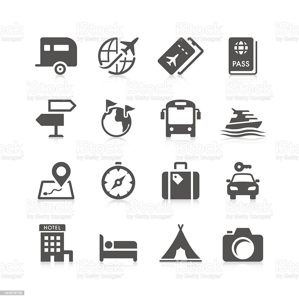 Reisen Sie Symbol Set/einzigartige Series – Vektorgrafik