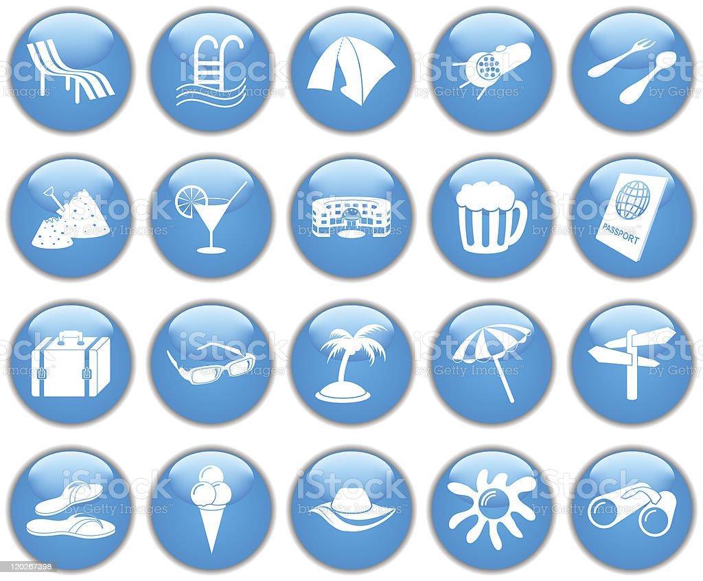 travel icon set royalty-free stock vector art