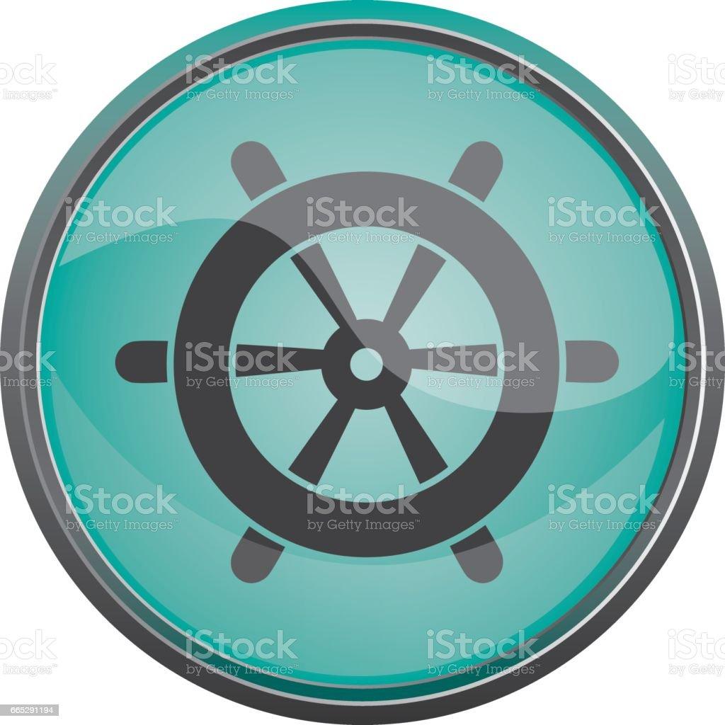 Travel icon. Summer vacations. Wheel Vector eps10 vector art illustration