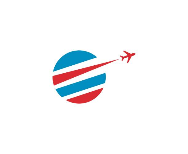 travel icon - commercial airplane stock illustrations