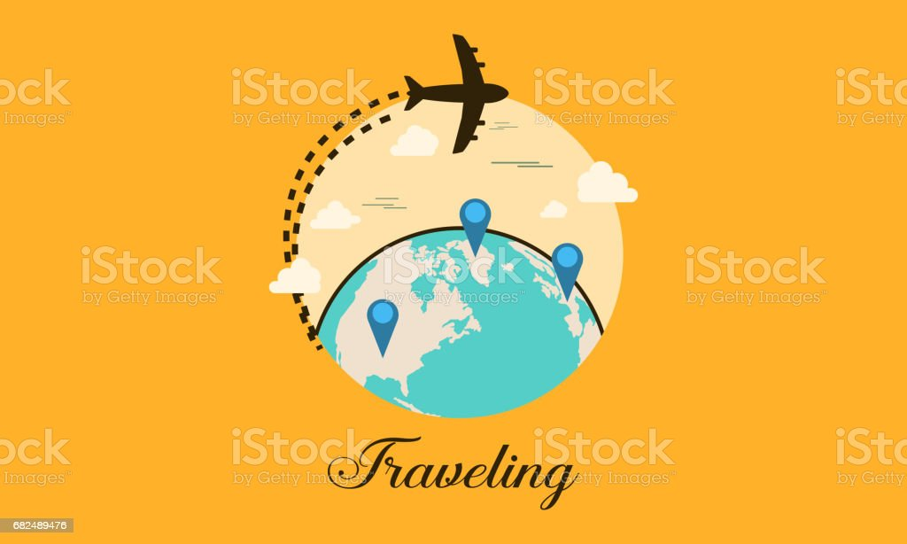 Travel icon with element collection vector illustration royalty-free travel icon with element collection vector illustration stock vector art & more images of airplane