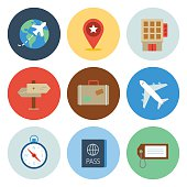 Travel Icons — Circle Series